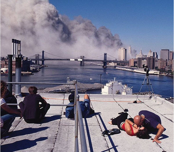 Neverbeforeseen photos of the smoldering Pentagon on 911