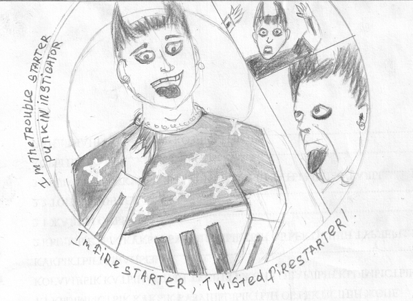 Im firestarter, Twisted firestarter... The Prodigy, twisted firestarter, Комиксы