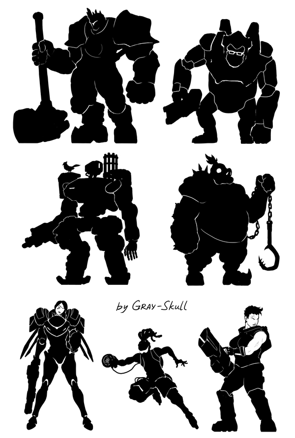 Overwatch heroes. Part 2 (by Gray-Skull)