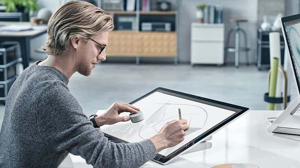 Microsoft Surface Studio Microsoft, windows, презентация, Surface Studio, Surface, новинка, Surface Dial, видео