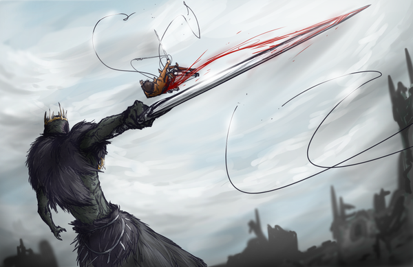Attack on Giant Lord dark souls, арт, DeviantArt, M-10ka, Атака Титанов