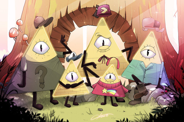 Bill Cipher's family CKibe, арт, Bill Cipher, Gravity Falls
