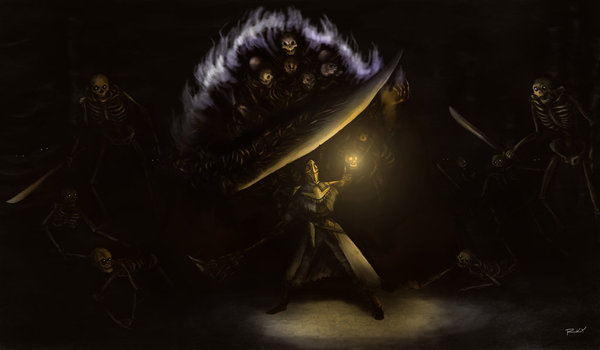 Все боссы Dark Souls (by OniRuu) Часть 3 dark souls, Pinwheel, Gravelord Nito, Dark Sun Gwyndolin, Seath the Scaleless, Ceaseless Discharge, длиннопост