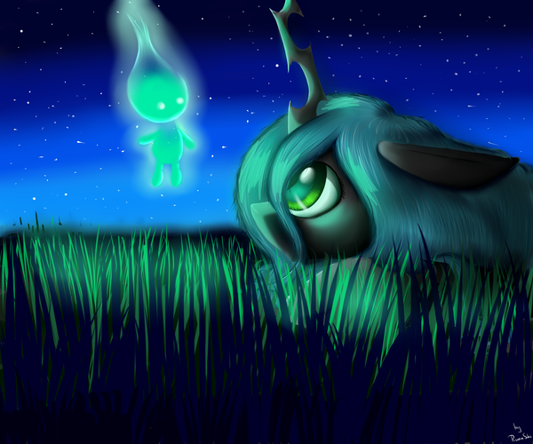 Queen Chrysalis and Spirit