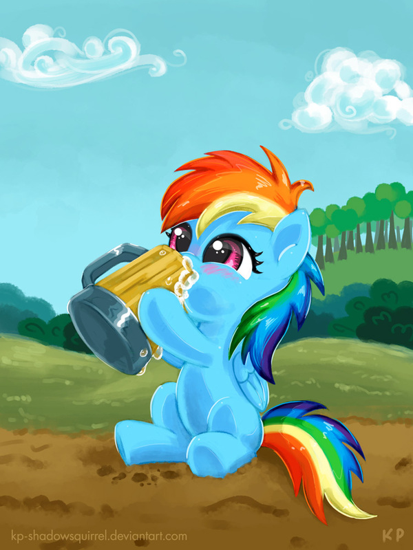 When I Was Just A Filly... my little pony, ponyart, rainbow dash