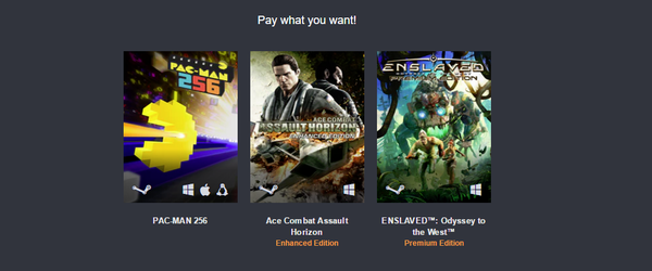 Humble Bundle BANDAI NAMCO Humble Bundle, steam, Enslaved: Odyssey to the West, Packman, ace combat