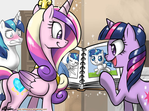 And This is Him When He Was a Foal! my little pony, ponyart, Twilight Sparkle, shining armor, Princess Cadance