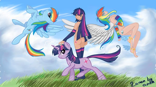 Rainbow Dash and Twilight Sparkle
