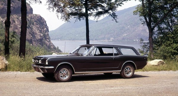 Ford Mustang Wagon (1966?)  Основа: 1964 Mustang coupe, with the 260 hp,  V-8 engine, and automatic transmission Ford Mustang, классика, авто, длиннопост