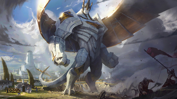 Сплеш арты обновленного Галио League of Legends, арт, Galio, длиннопост