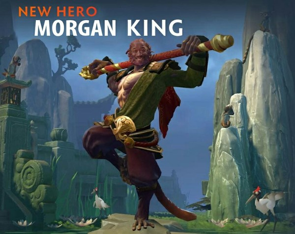 Dota 2 new hero Mk ( Morgan King) Walking dead