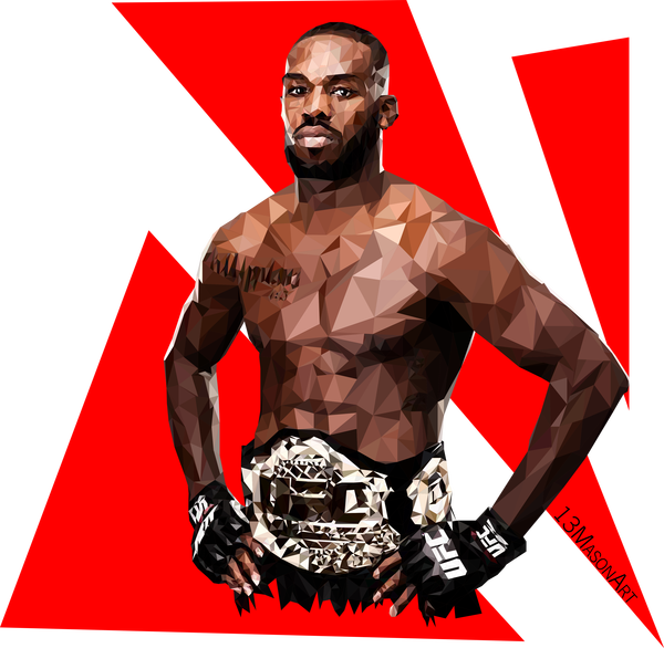 Полигональный портрет Jon Jones by 13mason