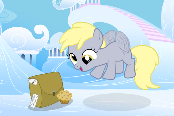 Derpy's First Day my little pony, ponyart, Derpy Hooves