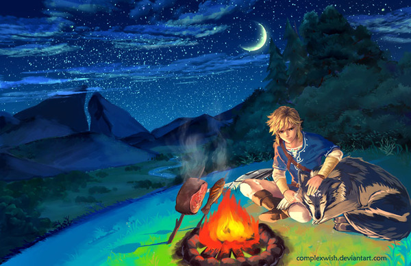 Breath of the wild game art, арт, The Legend of Zelda, линк
