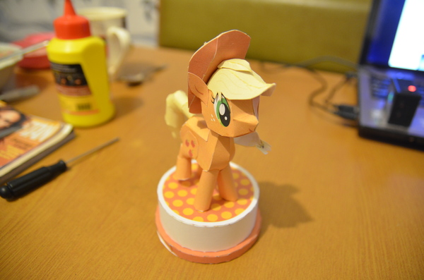 My little pony: Applejack my little pony, AppleJack, papercraft, длиннопост
