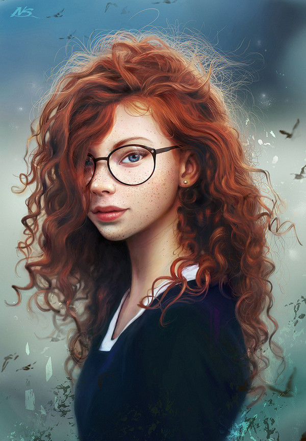 Red Hair Wizard by Noveland Sayson арт, Рыжая, девушки