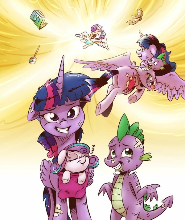 Flurry of Emotions My Little Pony, ponyart, Flurry Heart, Twilight Sparkle, Spike, MLP Season 7, спойлер, s07e03