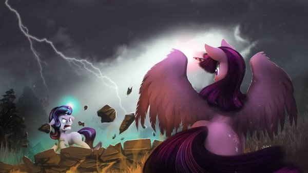 It's Time to Stop This! My Little Pony, ponyart, Twilight Sparkle, Starlight Glimmer
