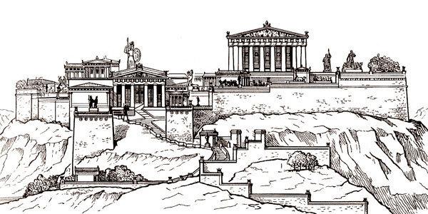 Афинский акрополь | Пикабу