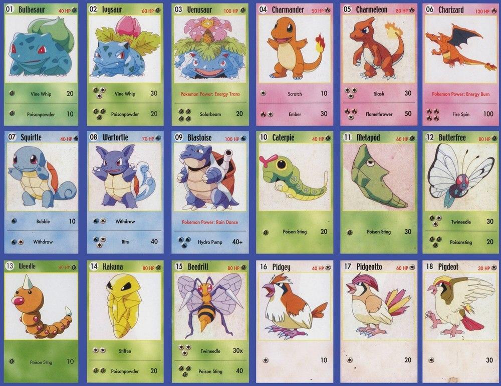 карточки покемоны фото
