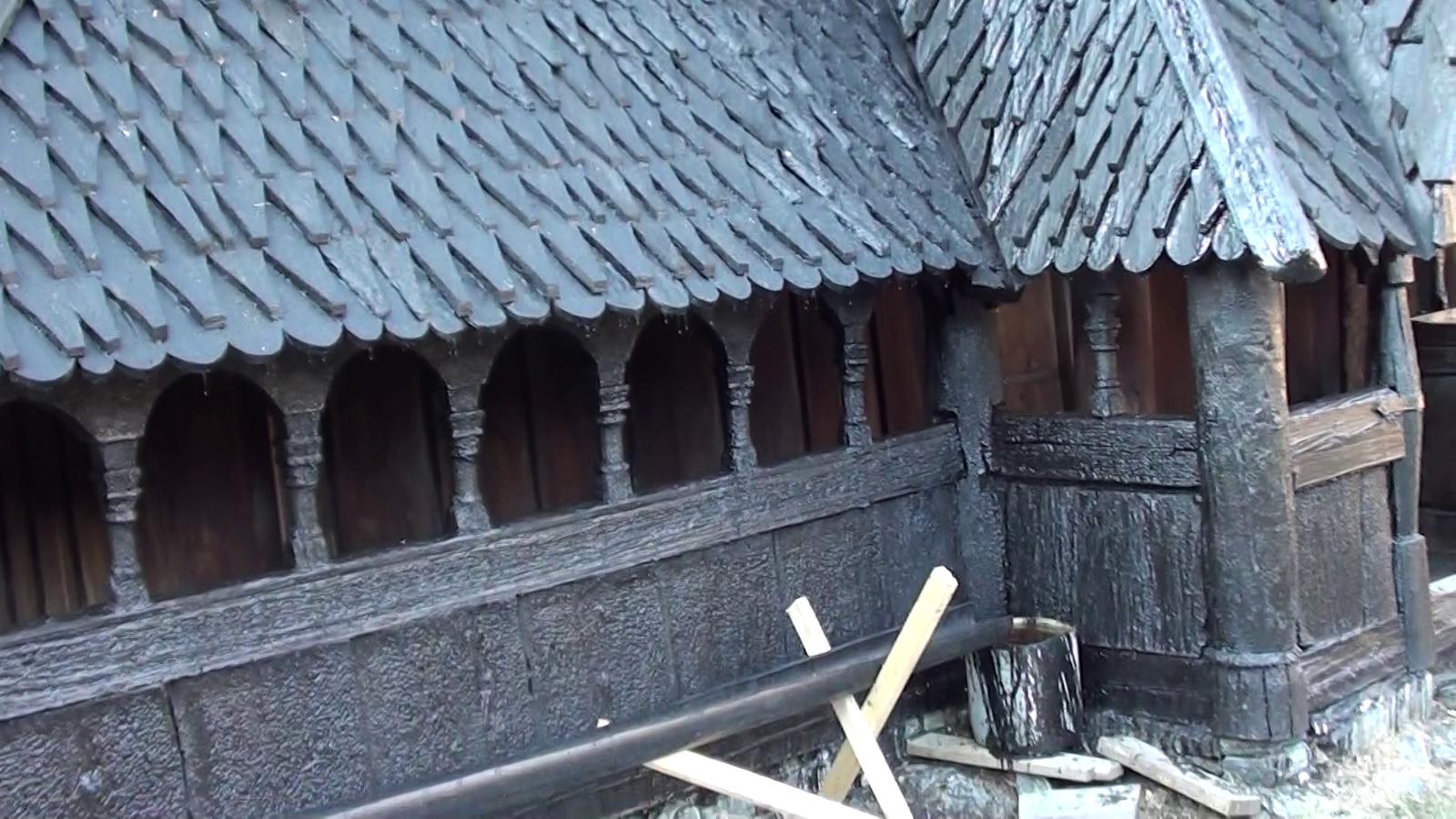 Обои Норвегия, деревянная, церковь. Разное