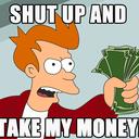 """Аватар сообщества """"Заткнись и возьми мои деньги"""""""