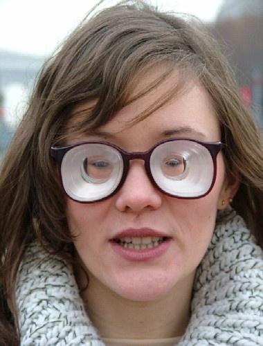 Толщина линз очков с диоптриями -20