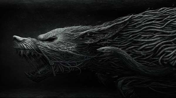 Волк арт, картинка без текста, Волк, не мое