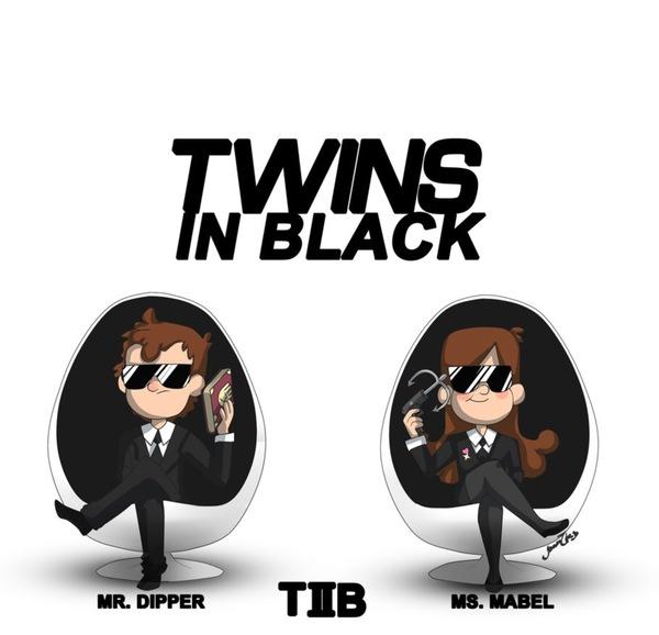 Двойняшки в чёрном