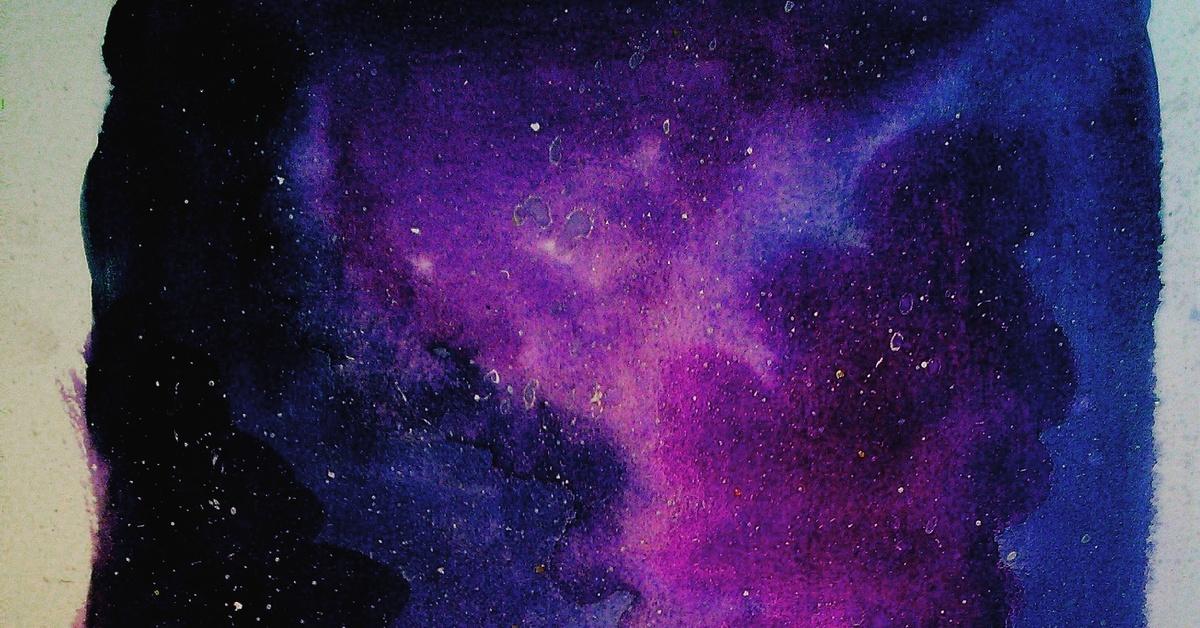 фото космоса акварелью