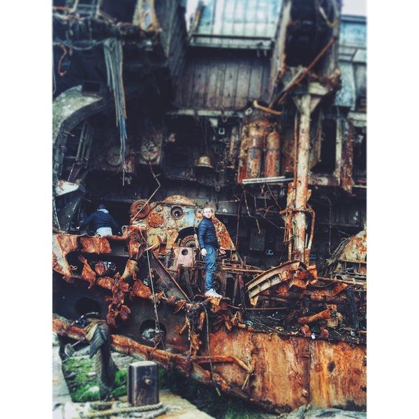 Распиленный корабль, Калининградская обл. г.Балтийск Корабль, Сечение