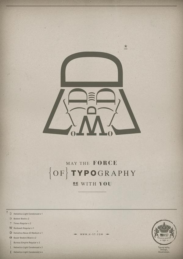 Да пребудет с тобой Сила типографики! Типографика, Минимализм, Star wars, Не спойлер, Дизайн, Длиннопост