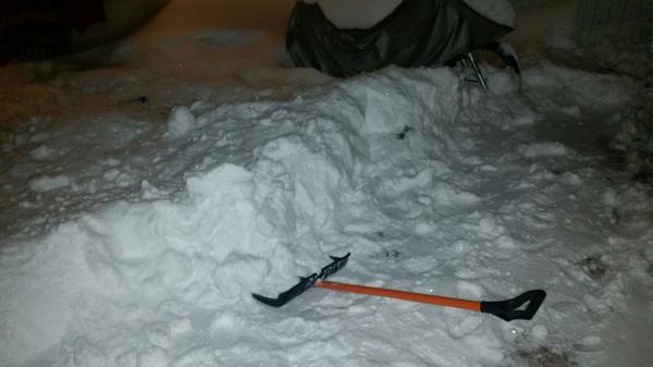 Снегопад в Павловском Посаде Зима, Снег, Подмосковье