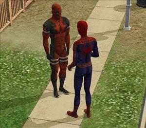 Кто дал фанату Дедпула в руки Sims?)