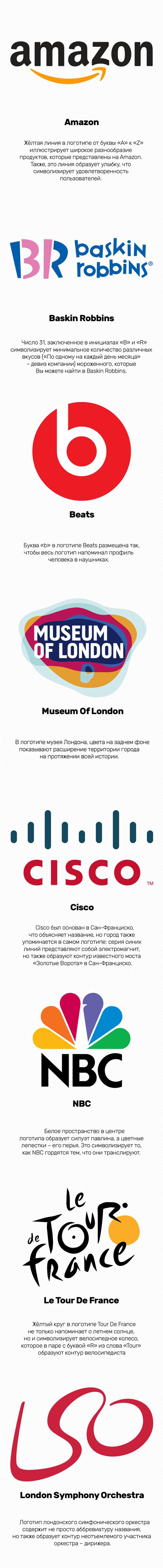 Скрытые сообщения в известных логотипах Логотип, Beats, Amazon, Cisco, Длиннопост