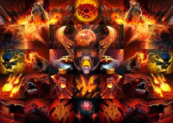 Силуэт DOOM'a из иконок Dota 2.