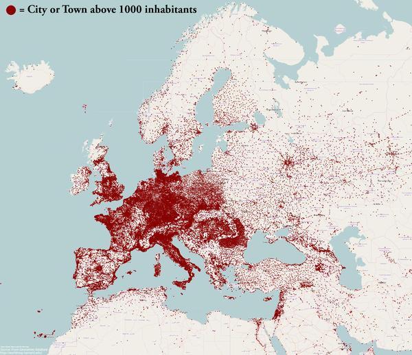 Плотность населения в европе Европа, Россия, Политика, Демография, Картинка с текстом