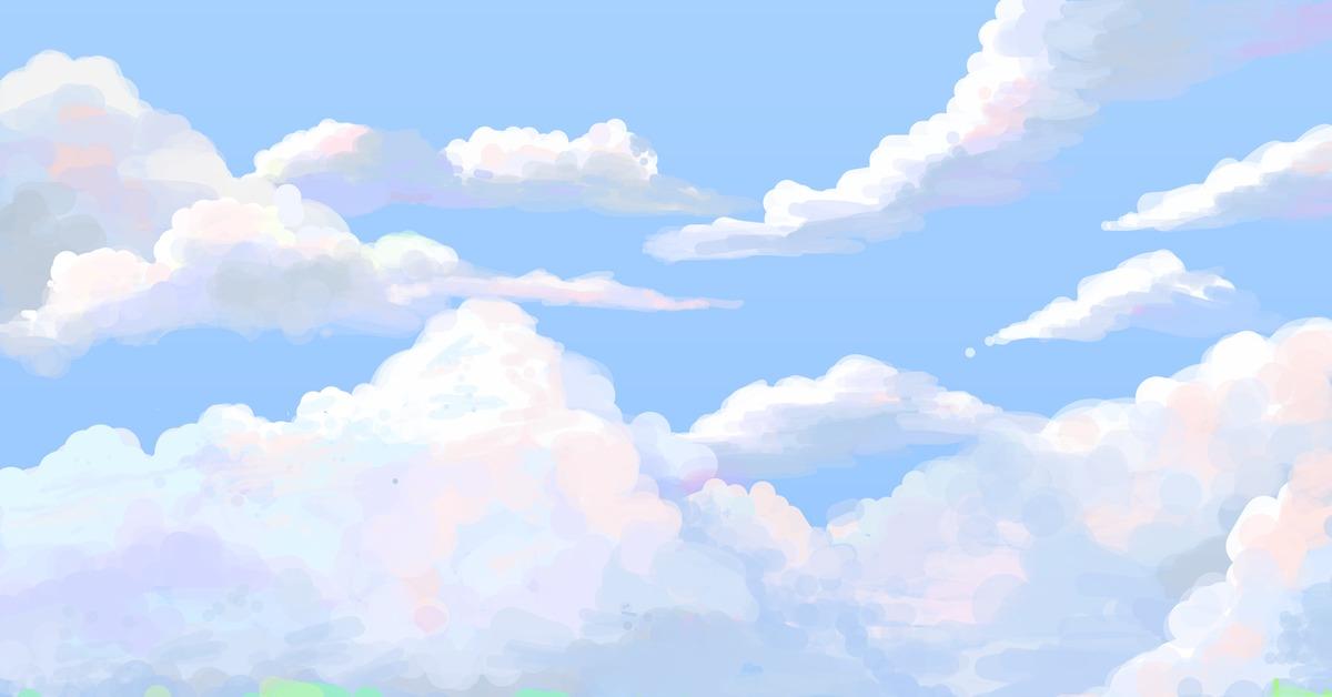 Картинка мультяшное небо