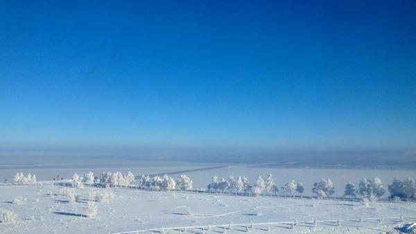 Ульяновск. Волга. Президентский мост. Мороз Ульяновск, Волга, мост, мороз, Фото