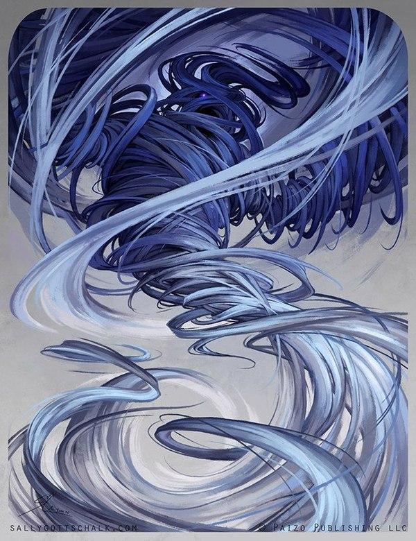 Элементали стихий.Работы Sally Gottschalk. элементаль, магия, Волшебство, длиннопост