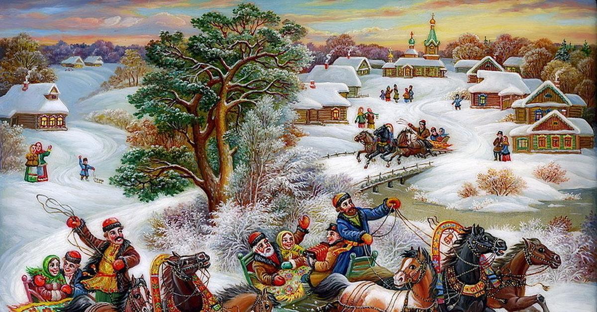 основном, русские народные картинки зима дерева