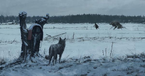 """""""1863 - Волчья стая"""", Волк, Стая, Якуб Розальски, персонаж, погоня, иллюстрации, арт"""