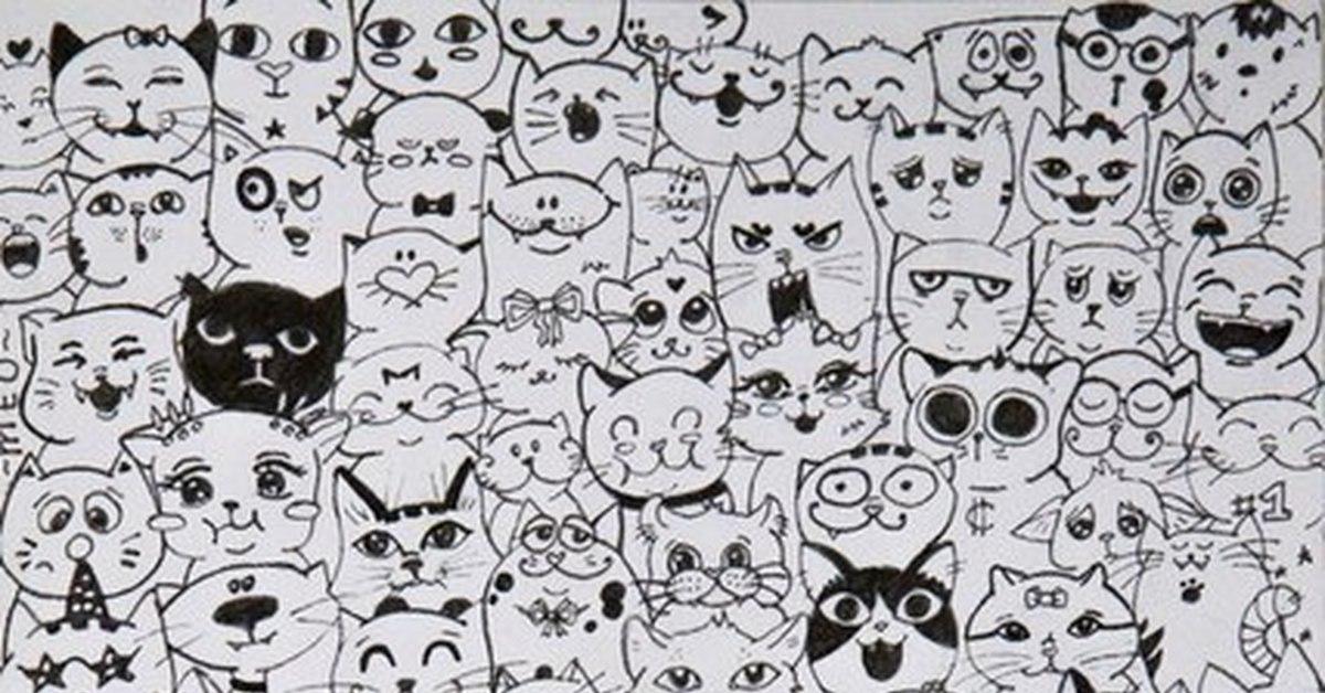 декору картинка много котиков черно белая луисана, боитесь
