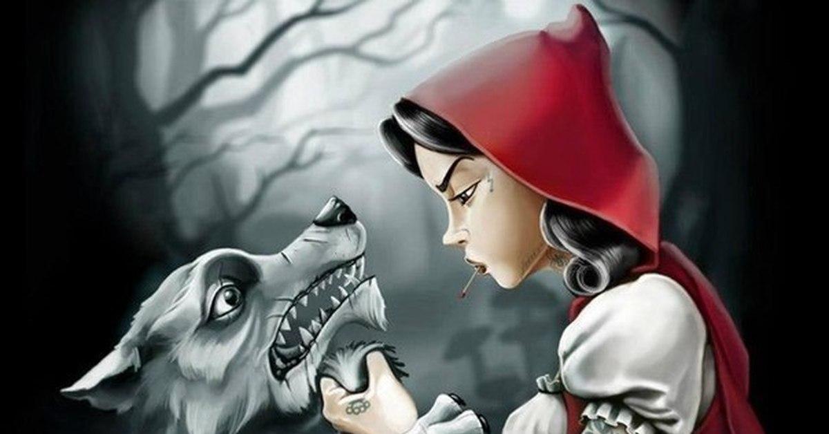 Герои, картинки про красную шапочку и серого волка