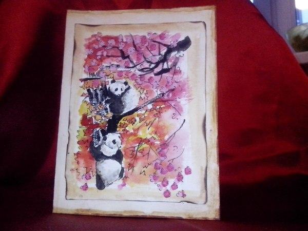 Пока вы ждёте рисунков история, девушки, арт, панда, моё, для подписчиков
