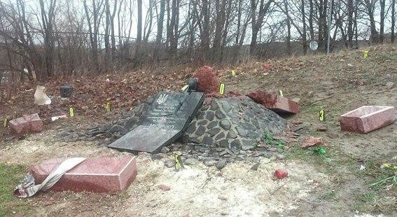 Подорвали памятник Сашко Белому Политика, Украина, Colonelcassad, Ожидаемо, Взрыв