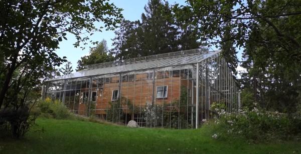 Супруги из Швеции построили теплицу вокруг дома, чтобы не мерзнуть зимой