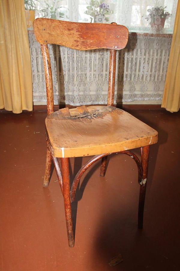 Вторая жизнь старого стула. ремонт, дерево, стул, рукоделие, плотничество, Прадед, длиннопост