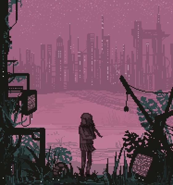 Pixel & Digital Art #2 by pixelMewr Арт, Pixel art, Цифровой рисунок, Картинки, Подборка, Гифка, Длиннопост