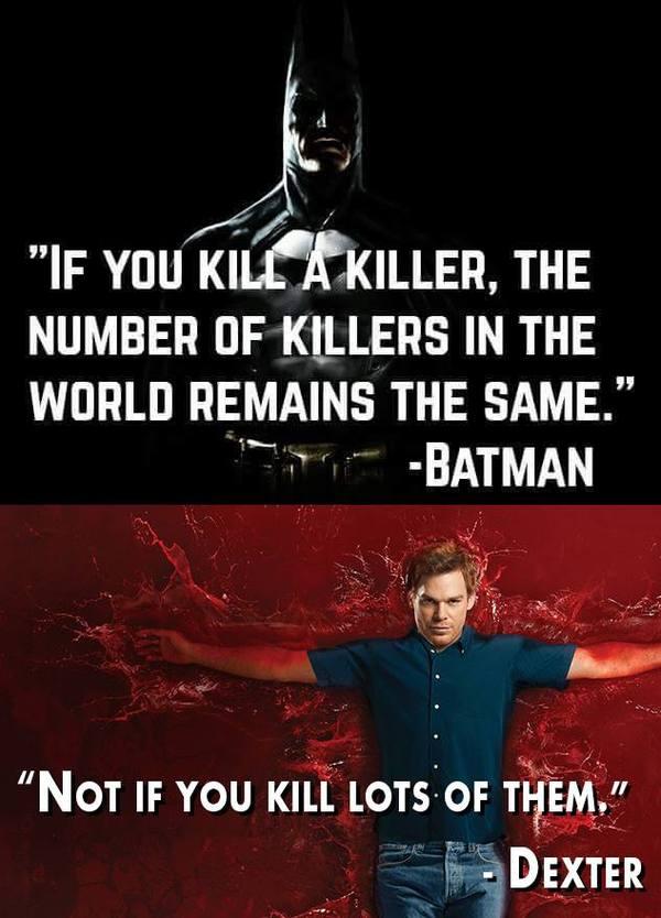 Логично Бэтмен, Декстер, Юмор